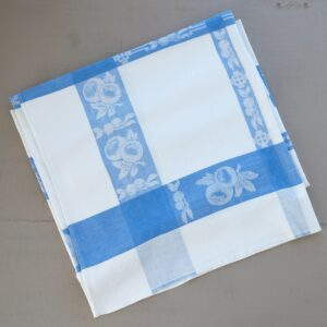 Blue and white utility tablecloth