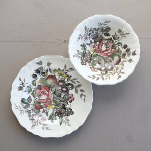 Vintage rose bowl and plate